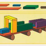 Схема по сборке грузовика из строительного материала