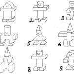 Схема по сборке робота из строительного материала