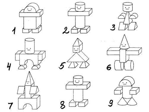 Картинки схемы для детского конструирования