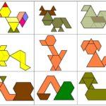 Схемы сборки животных из бумажных фрагментов