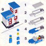 Схема сборки полицейского автомобиля из конструктора «Лего»