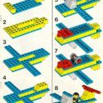 Схема сборки самолёта из конструктора «Лего»