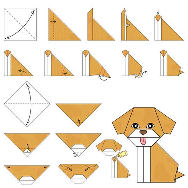 Схема оригами «Щенок»