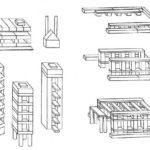Схемы зданий из строительных наборов