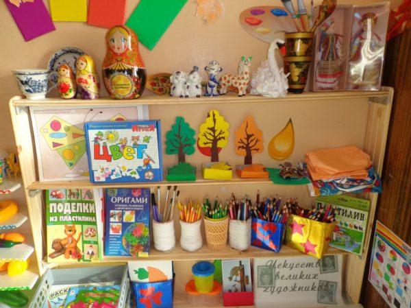 Уголок изобразительного творчества в детском саду