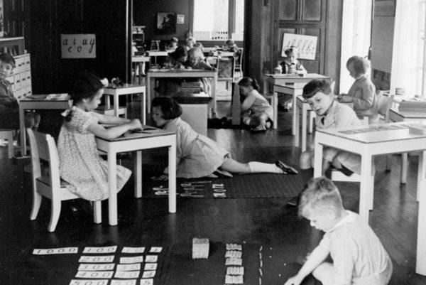 «Дом детей», основанный Марией Монтессори в 1907 г. в Риме