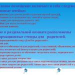 Описание помещений и перечень информационных стендов