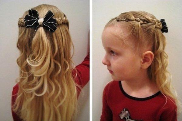 Причёска для девочки «Венок»