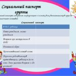 Страница социального паспорта для внесения сведений о воспитаннике