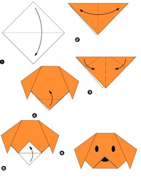 Пример упражнения для ручного труда в технике оригами