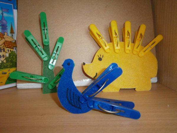 Сделанные своими руками дидактические пособия для игр с прищепками