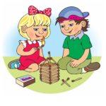 Рисунок играющих со спичками детей