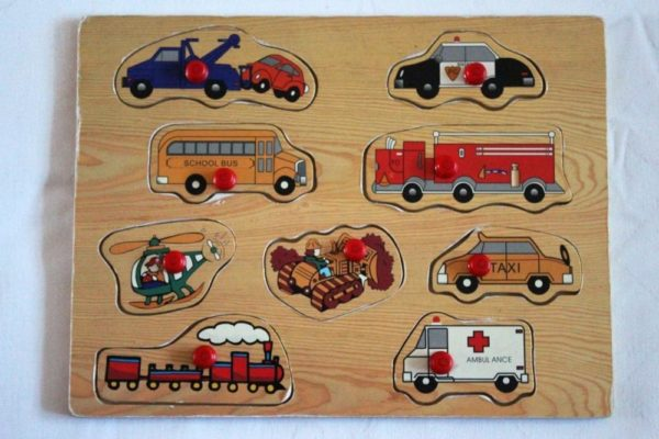 Деревянные пазлы-вкладыши «Транспорт»
