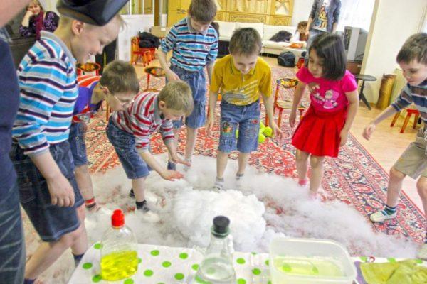 Химическое шоу в детском саду