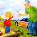 Рисунок, на котором ребёнок отказывается от конфеты от взрослого