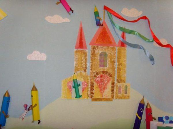 Красивый замок на стене