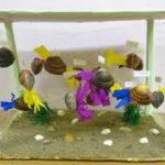 Макет аквариума с ракушками