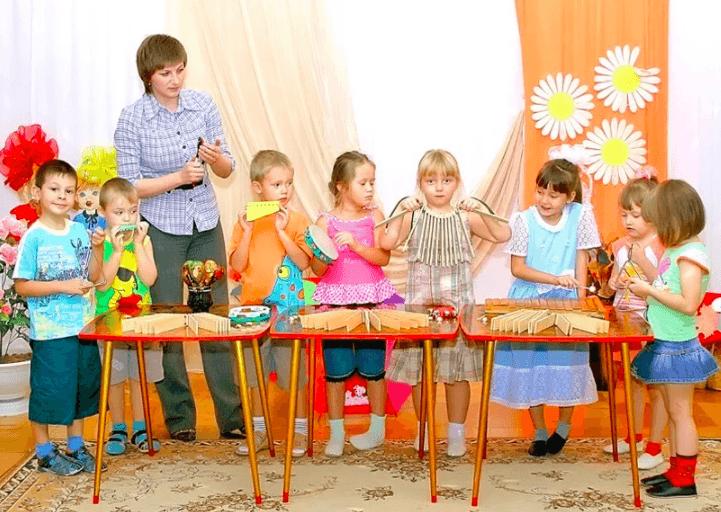 музыкальное занятие средняя группа знакомство с музыкальными инструментами