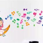 Наклейки на стену «Весёлые мелодии»