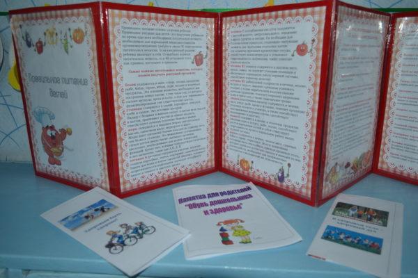 Папка-передвижка о правильном питании детей и памятки для родителей