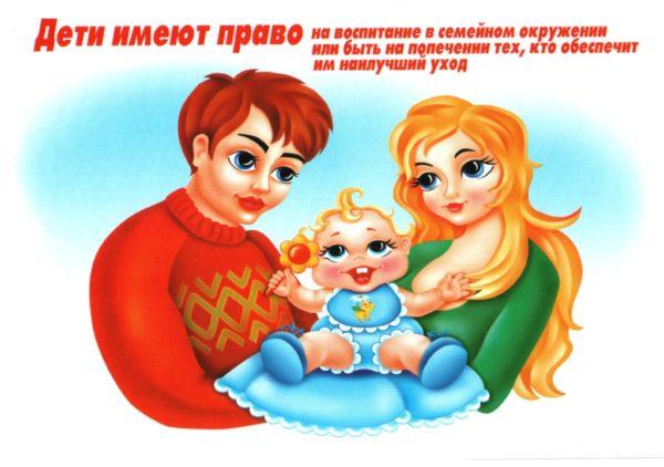 Плакат «Право детей на воспитание и уход»