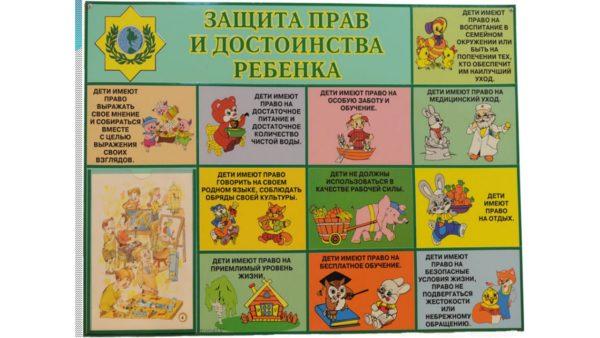 Плакат «Защита прав и достоинств ребёнка»