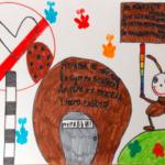 Нарисованный плакат, посвящённый муравьям