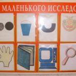 Схема «Уголок маленького исследователя»