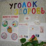 Уголок в виде плакатов и бумажных фигурок
