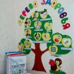 Уголок здоровья в виде дерева