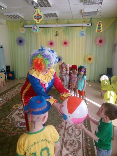 Занятие «В гости к Солнечному клоуну»
