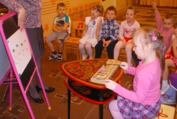Занятие «Весёлые нотки в гостях у ребят» в музыкальном кружке