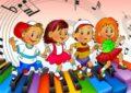 Анимация: дети бегут по клавишам
