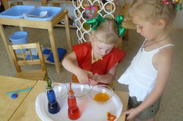 Экспериментирование с красками