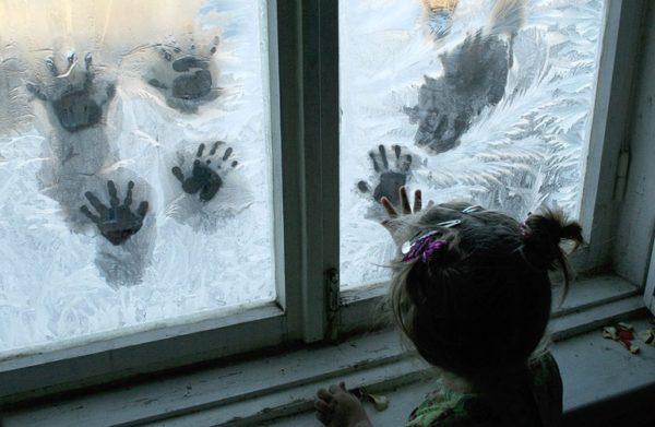 Экспериментирование с заледеневшим окном