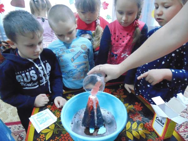 Опыт с содой «Извержение вулкана»