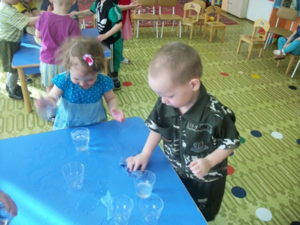 Опытная деятельность в младшей группе