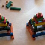 Две пирамиды из палочек