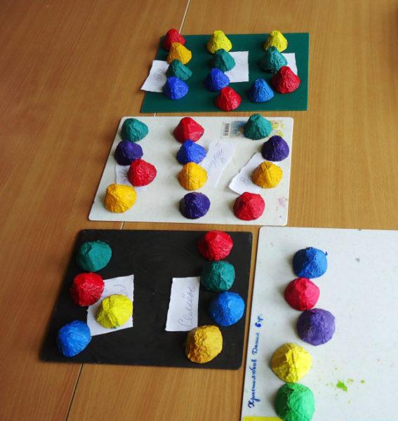 Разноцветные ячейки