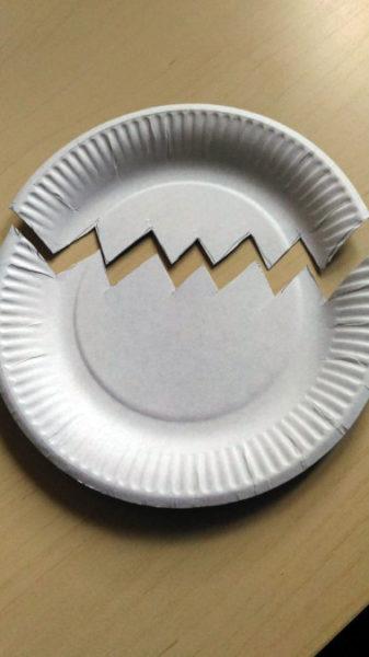Разрезанная тарелка