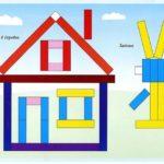 Схема составления домика и зайчика