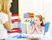 Учитель-логопед детского сада работает со всеми видами нарушений речи детей дошкольного возраста.