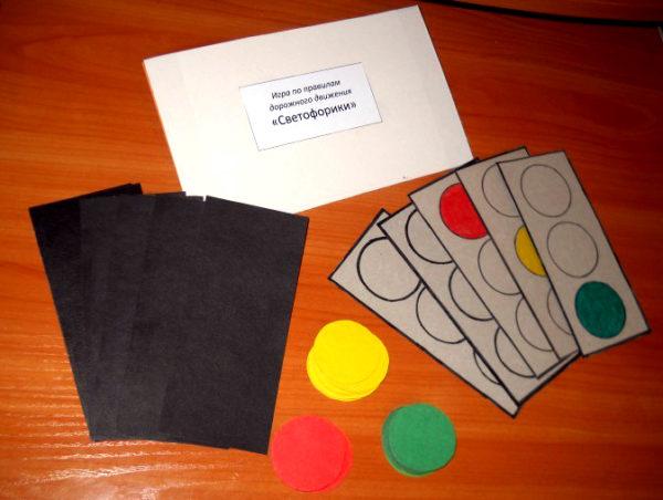 Игра-аппликация «Светофорики» для младших дошкольников