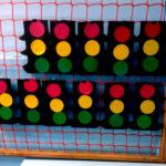 Поделки светофоров, выполненные в технике накладной аппликации