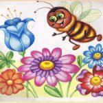 Цветочки и пчёлка задание по математике