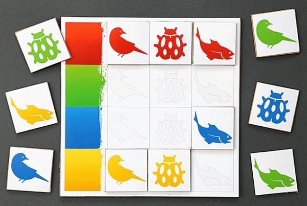Дидактическая игра «Цветное лото»