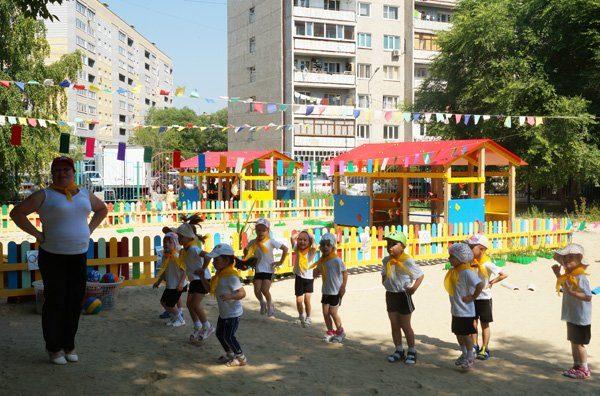 Гимнастика с детьми на улице