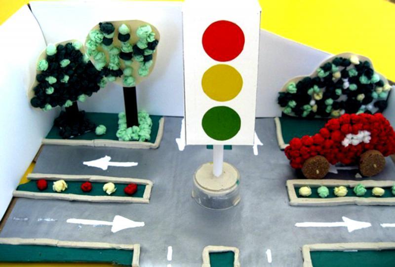 Игровой макет на тему ПДД