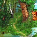 Белочка в лесу