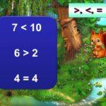 Задания на сравнение чисел